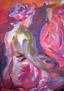 Babett Schwaderer, 3.5.16, Acryl:Leinwand, 50x70cm